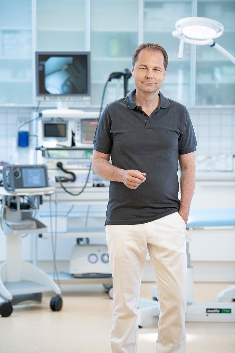 Dr. Filipitsch im Raum 3 Endoskopie